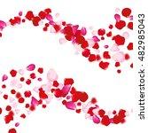 Stock vector rose petals falling background for presentations invitation ad print wedding valentine love 482985043