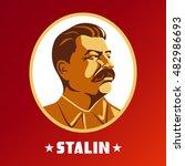 portrait of joseph stalin.... | Shutterstock .eps vector #482986693