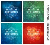 christmas typography greeting... | Shutterstock .eps vector #482996077