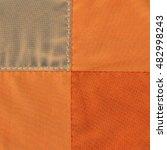 Orange Textile Background Of...