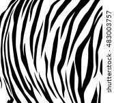 animal skin black and white... | Shutterstock .eps vector #483003757
