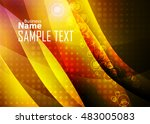 orange abstract template for... | Shutterstock .eps vector #483005083