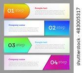 banners set number modern... | Shutterstock .eps vector #483005317