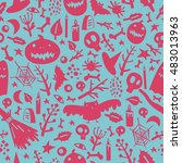seamless pattern on the theme... | Shutterstock .eps vector #483013963