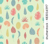 vector seamless pattern with... | Shutterstock .eps vector #483016597