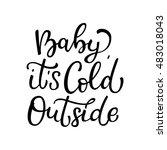 hand drawn vector lettering... | Shutterstock .eps vector #483018043