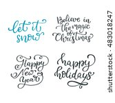 set of hand drawn vector quotes.... | Shutterstock .eps vector #483018247