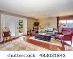 traditional living room... | Shutterstock . vector #483031843