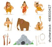 Stone Age Tribe People And...