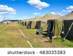 the army camp at a sunny day | Shutterstock . vector #483035383