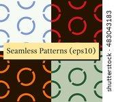 seamless geometric green... | Shutterstock .eps vector #483043183