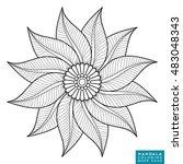 mandala  vector mandala  floral ...   Shutterstock .eps vector #483048343