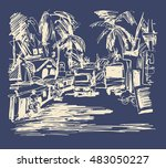 digital drawing of india goa... | Shutterstock . vector #483050227