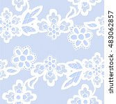 old lace background  ornamental ... | Shutterstock .eps vector #483062857