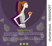 modern healthy food concept... | Shutterstock .eps vector #483064297