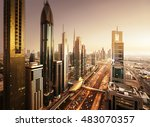 Dubai Skyline In Sunset Time ...