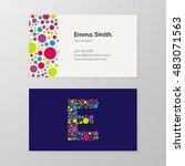 modern letter e circle colorful ... | Shutterstock .eps vector #483071563