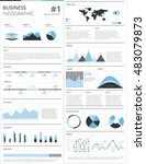business infographics and data... | Shutterstock .eps vector #483079873