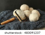 Balls Of Wool And Wool Carding...