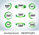 360 degrees view vector icons.... | Shutterstock .eps vector #483091687