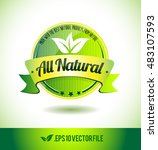 all natural badge label seal... | Shutterstock .eps vector #483107593