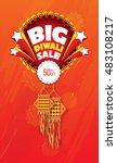 diwali offer design template  ... | Shutterstock .eps vector #483108217