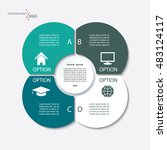 infographic business template... | Shutterstock .eps vector #483124117