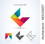 abstract vector letter c logo... | Shutterstock .eps vector #483133057