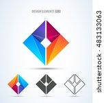 abstract vector company logo... | Shutterstock .eps vector #483133063
