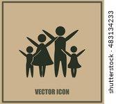 family vector icon   Shutterstock .eps vector #483134233