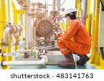 mechanical inspector inspection ... | Shutterstock . vector #483141763