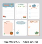 cute daily calendar  and to do... | Shutterstock .eps vector #483152323