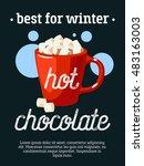 best for winter   blackboard... | Shutterstock .eps vector #483163003