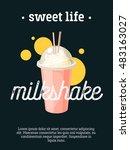 sweet life   blackboard... | Shutterstock .eps vector #483163027