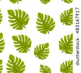 seamless pattern with tropical... | Shutterstock .eps vector #483167917
