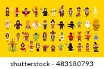 stock vector set of characters... | Shutterstock .eps vector #483180793