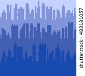 pixel art 8 bit cartoon... | Shutterstock .eps vector #483181057
