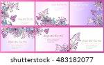 set hand drawn vector... | Shutterstock .eps vector #483182077