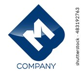 bm company linked letter logo   Shutterstock .eps vector #483192763