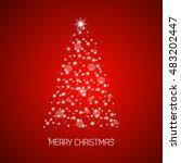 christmas tree from stars ... | Shutterstock .eps vector #483202447