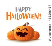 happy halloween   | Shutterstock .eps vector #483206497