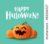 happy halloween   | Shutterstock .eps vector #483206527