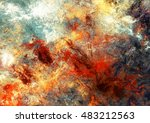 bright artistic splashes.... | Shutterstock . vector #483212563