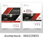 red annual report business... | Shutterstock .eps vector #483225853