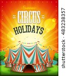 summer circus holidays poster ... | Shutterstock .eps vector #483238357