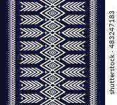 geometric ethnic pattern design ... | Shutterstock .eps vector #483247183