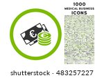 euro cash rounded vector... | Shutterstock .eps vector #483257227
