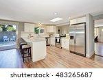 modern kitchen room interior in ... | Shutterstock . vector #483265687