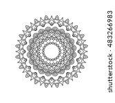 ethnic ornamental pattern... | Shutterstock .eps vector #483266983