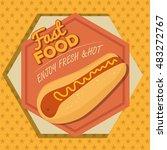 cartoon fast food design design | Shutterstock .eps vector #483272767